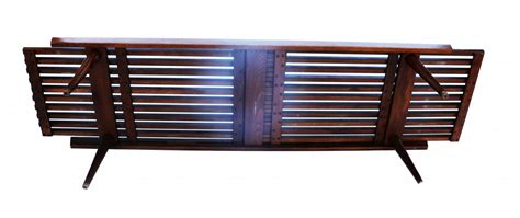 Coffee Bench by Mid Century Modern Expandable Slat Bench Wood