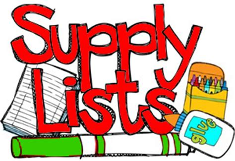 Image result for supply list
