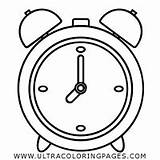 Coloring Wake Alarm Clock Pages sketch template