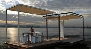 Pergola Mit Sonnensegel : pergola beschattung sonnenschutz im garten und im hinterhof ~ Sanjose-hotels-ca.com Haus und Dekorationen