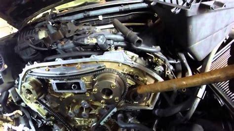 nissan xterra vq40de engine timing chain replacement stabilized