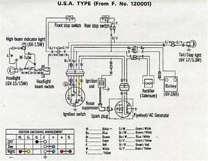 Honda Z50a K1 Usa Type Wiring Diagram  61706