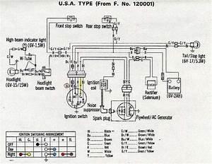 Honda Z50a K1 Usa Type Wiring Diagram  61706
