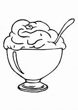 Ice Cream Coloring Pages Scoop Eat Clipart Cone Sundae Printable Cartoon Clip Cliparts Cup Three Cherry Popular Library Getcoloringpages Coloringhome sketch template