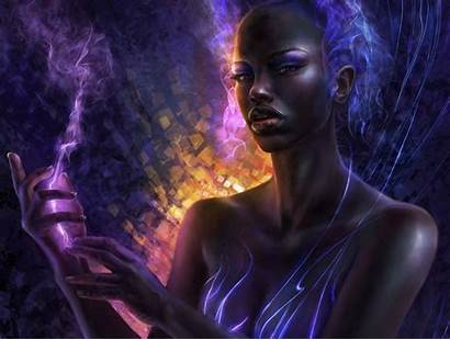 Fantasy Wallpapers Desktop Woman Magic Afro Background