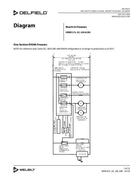 delfield refrigerator wiring diagram delfield product