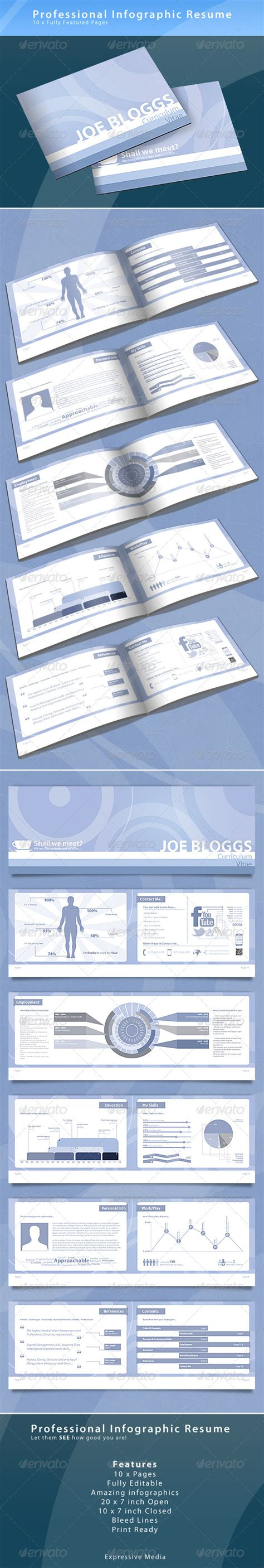 infographic resume booklet graphicriver
