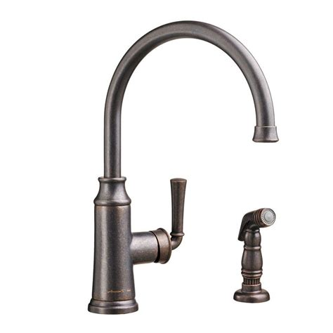 bronze kitchen faucet standard portsmouth single handle standard