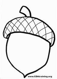 large acorn clip art black  white high quality