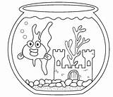 Coloring Goldfish Pages Aquarium Fish Sheets Bowl Nutcracker Printable Realistic Animals Advertisement Getcoloringpages Popular Library Clipart sketch template