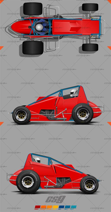 race car graphics design templates cs9 sprint car template school of racing graphics