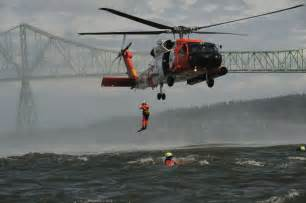 Coast Guard Swimmer Helicopter Rescue