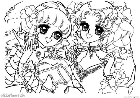 glitter force anime girls coloring pages printable