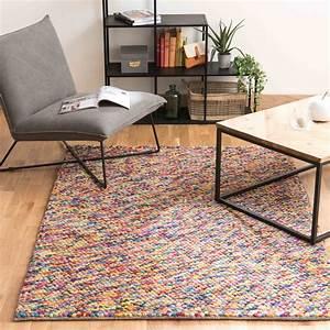 Kinderteppich 160 X 230 : wollteppich rainbow 160 x 230 cm bunt maisons du monde ~ Watch28wear.com Haus und Dekorationen