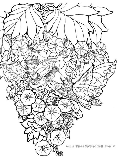258 best images about Coloring pages Angels & fairies