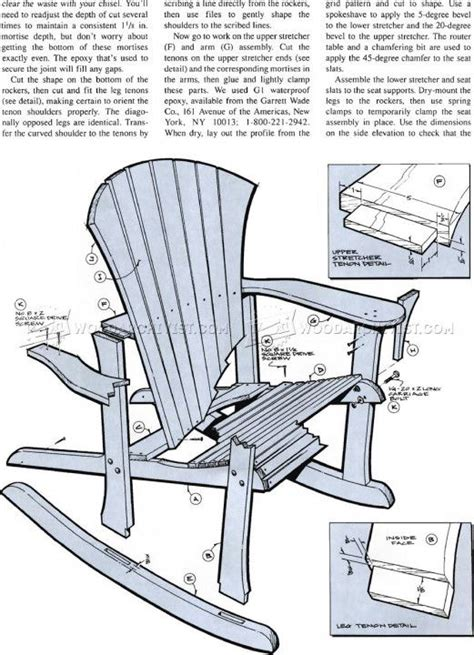 plans    adirondack chair  color furniture