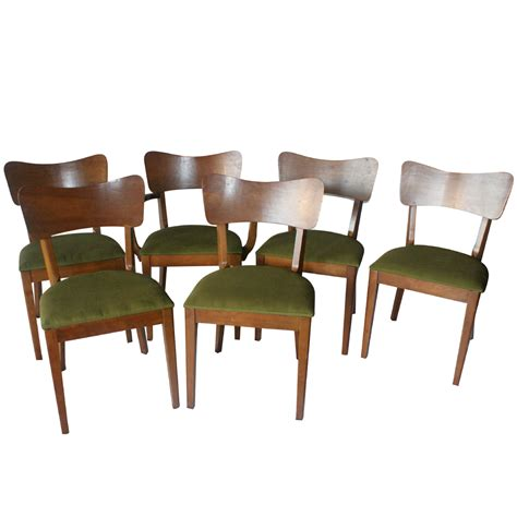 6 mid century basic witz side dining chairs 33 sale