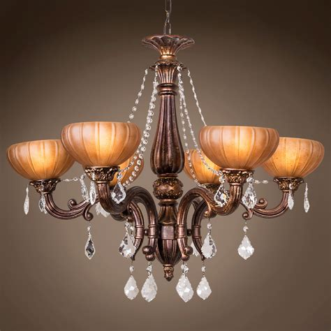 bronze chandelier with accents joshua marshal 700788 001 monaco 6 light 32 quot aged bronze