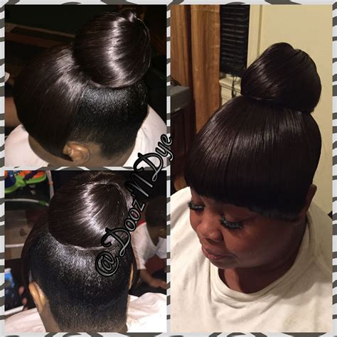 hairstyles for black black haircare updo bun styles bun and weave