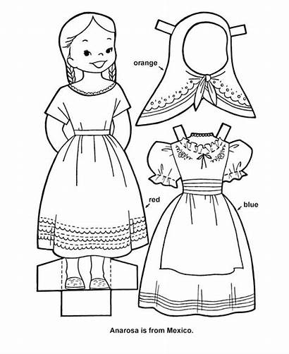 Doll Paper Printable Cutout Sheets Sheet Dolls