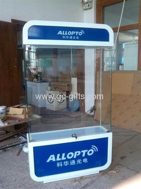 Rotary lockable acrylic display cabinets with LED lights