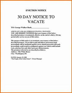 30 day eviction notice template shatterlioninfo With 30 day rental notice template