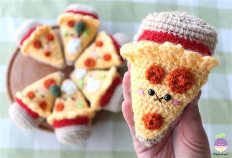 crochet cuisine amigurumi food combo pizza crochet