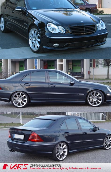 amg  style front rear bumper bar side skirts