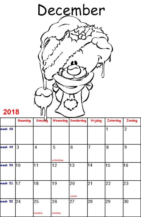 Kleurplaat Sinterklaas Kalender by Kleurplaten Voor Kinderen Diddl Kalender 2018