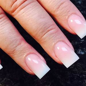 Images Of Pink And White Acrylic Nails - Nail Art Ideas