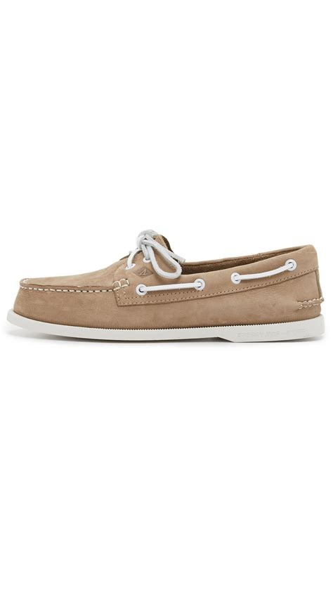 Sperry Washable Boat Shoes by Lyst Sperry Top Sider A O 2 Eye Washable Nubuck Boat