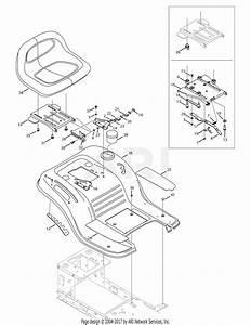 Troy Bilt 13an77kg011 Pony  2008  Parts Diagram For Seat