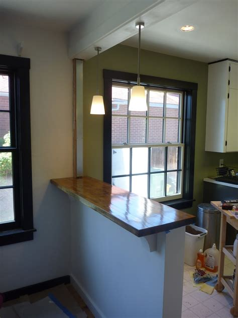 kitchen island countertop overhang my stupid house building a sturdy half wall bar top