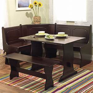 21 space saving corner breakfast nook furniture sets booths With breakfast nook kitchen table sets