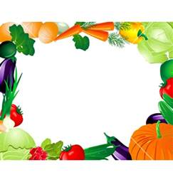 Fruit and Vegetable Border Clip Art Free