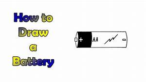 How To Draw A Battery - Very Easy - For Kids