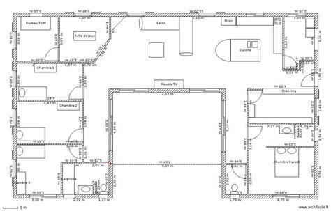 plan maison plain pied 3 chambres gratuit plan maison plain pied en u gratuit