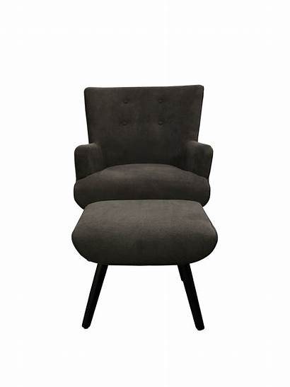 Grey Chair Ottoman Warehouse Living Interior Fabric