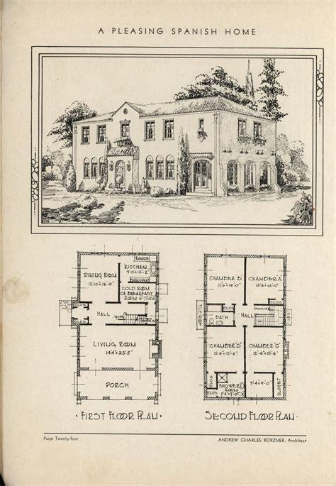 antique spanish house plans vintage revival house plans