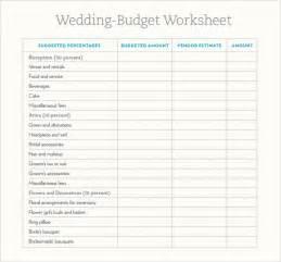 wedding budget worksheet 7 wedding budget template sles exles format