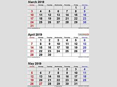 April 2019 Calendar Template 2018 calendar printable