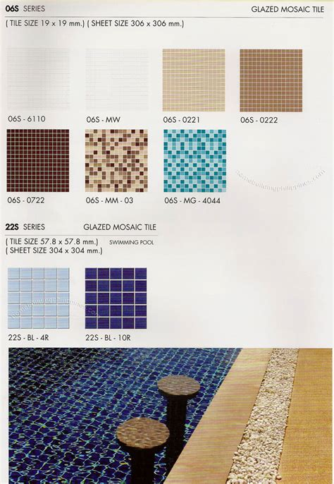 glazed mozaic ceramic tiles