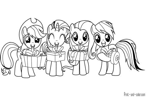 Coloring My Pony by My Pony Coloring Pages Print And Color