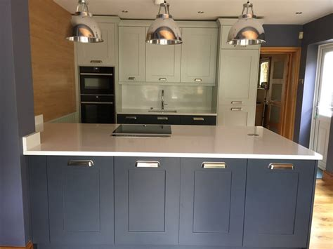 charcoal  partridge grey shaker kitchen fitted