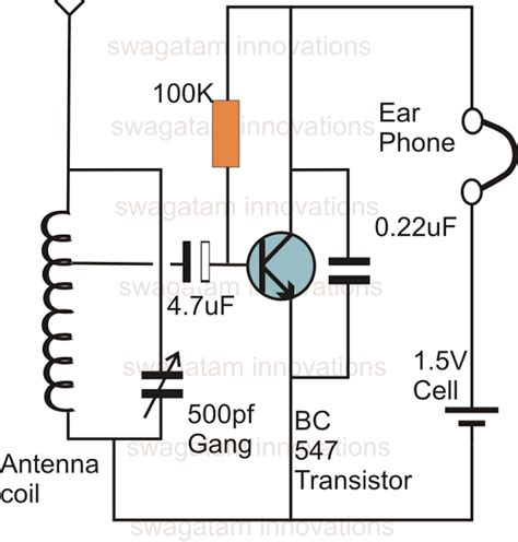 This Probably The Simplest Radio Receiver Circuit That