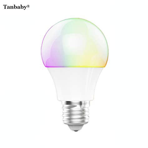 tanbaby 4 5w e27 rgbw led light bulb bluetooth 4 0 smart