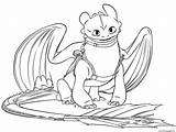 Dragon Coloring Pages Toothless Dragons Printable Train sketch template
