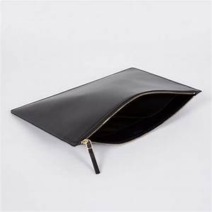 paul smith black leather document pouch in black for men With mens leather document pouch
