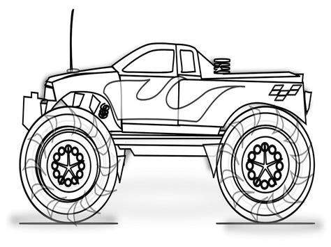 Printable Monster Truck Coloring Page 2623977