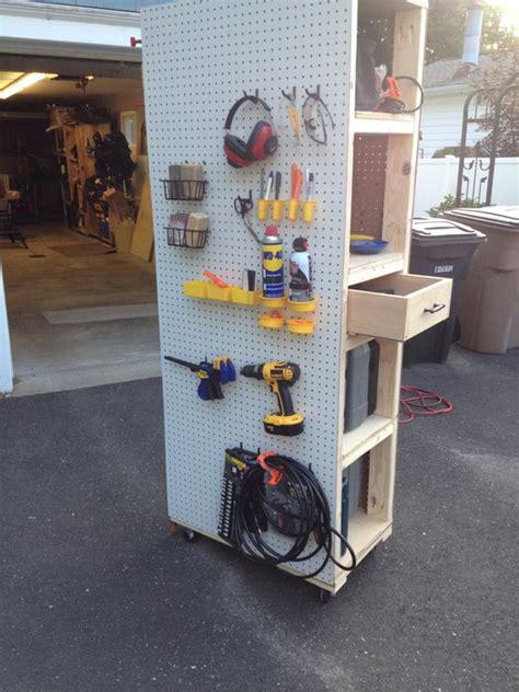 mobile pegboard cabinet  scottlj  lumberjocks